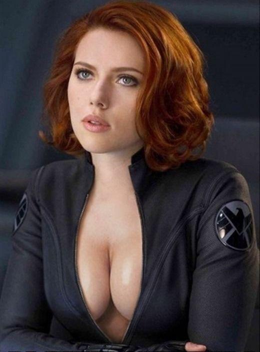 black widow fakes porn johansson Scarlett avengers