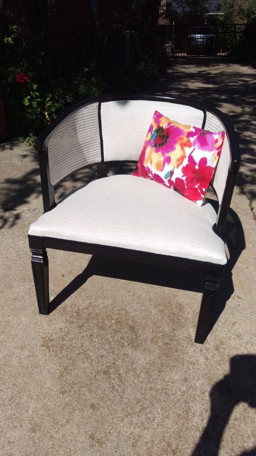 Vintage Cane Back Barrel Chair By Cordoncreations On Etsy Diy Furniture Decor Outdoor Chaise Lounge Chair