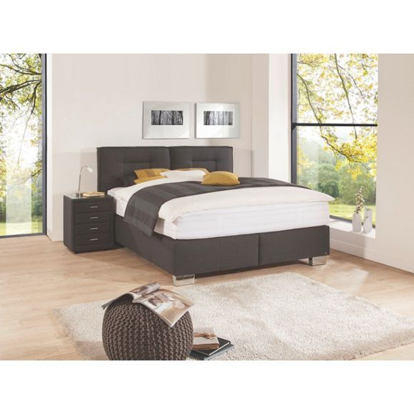 boxspringbett 180 cm x 200 cm in textil schwarz boxspringbett 30 tag und erholung. Black Bedroom Furniture Sets. Home Design Ideas