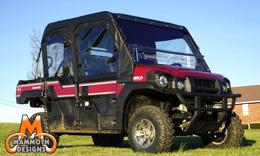 kawasaki mule pro-fxt modular full cab enclosure with aero-vent