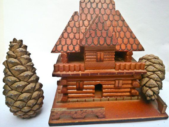 Miniature log cabin - Romanian folk handicrafts - Gift ...