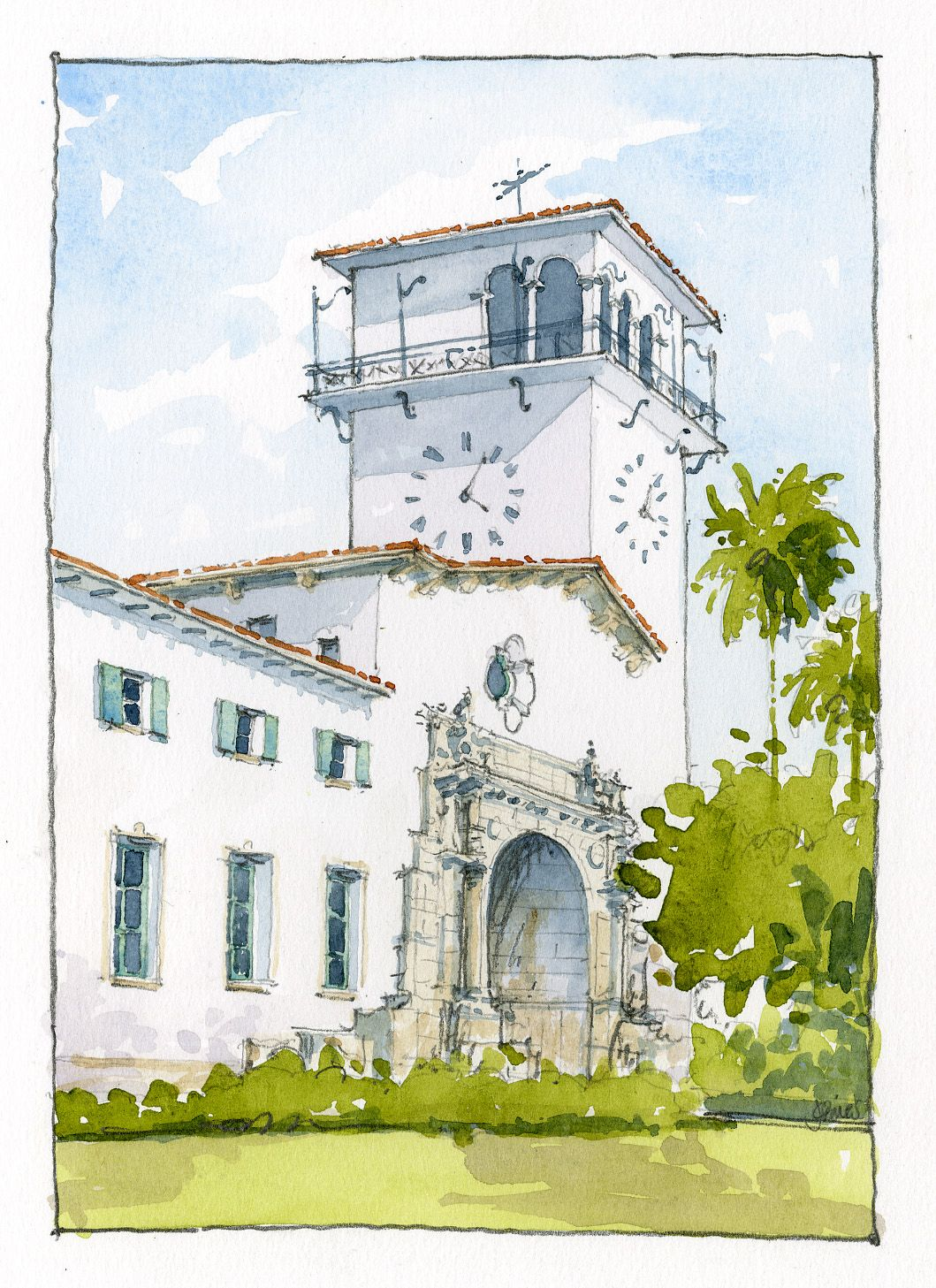 Santa Barbara Courthouse Jason Grimes Santa Barbara Courthouse Artist Inspiration California Dreaming