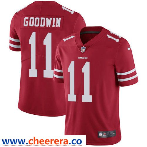 00bb95e7e87 Nike San Francisco 49ers  11 Marquise Goodwin Red Team Color Men s Stitched  NFL Vapor Untouchable Limited Jersey