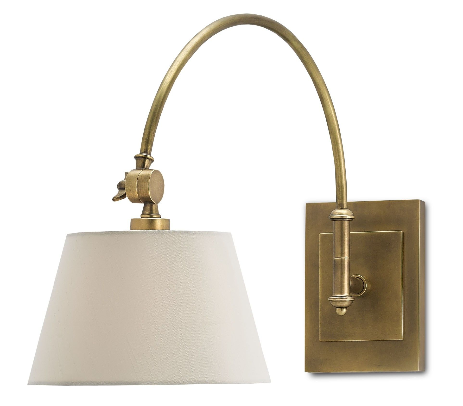 Currey Company Ashby Swing Arm Sconce With An Adjustable Swing