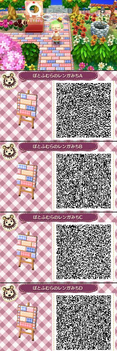 kawaii animal crossing floor qr codes