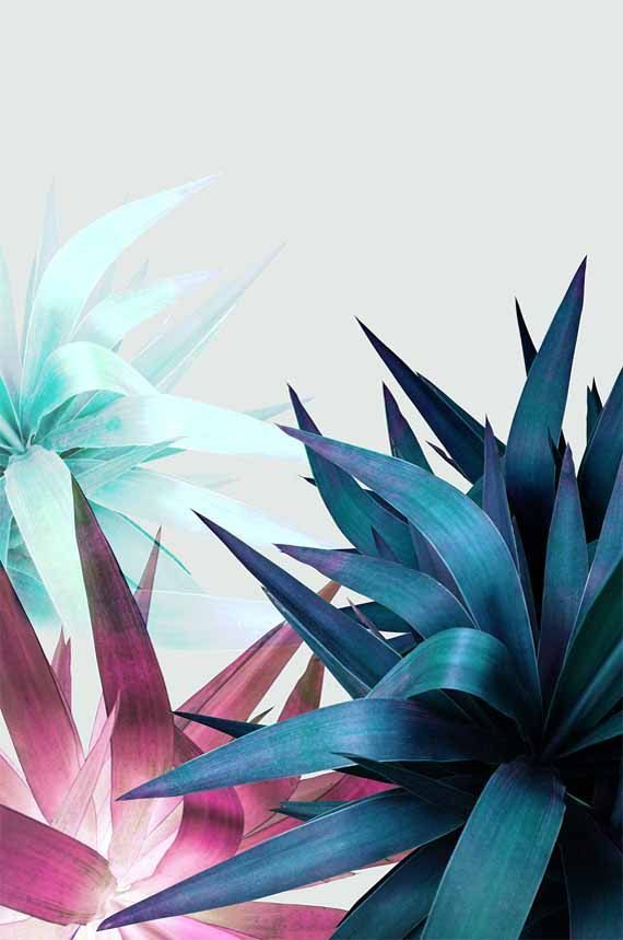 awsome tropical leaf printable wall art by printsproject