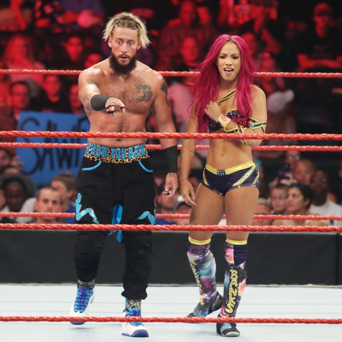 Enzo Amore   Sasha Banks vs. Chris Jericho   Charlotte  photos acb156562