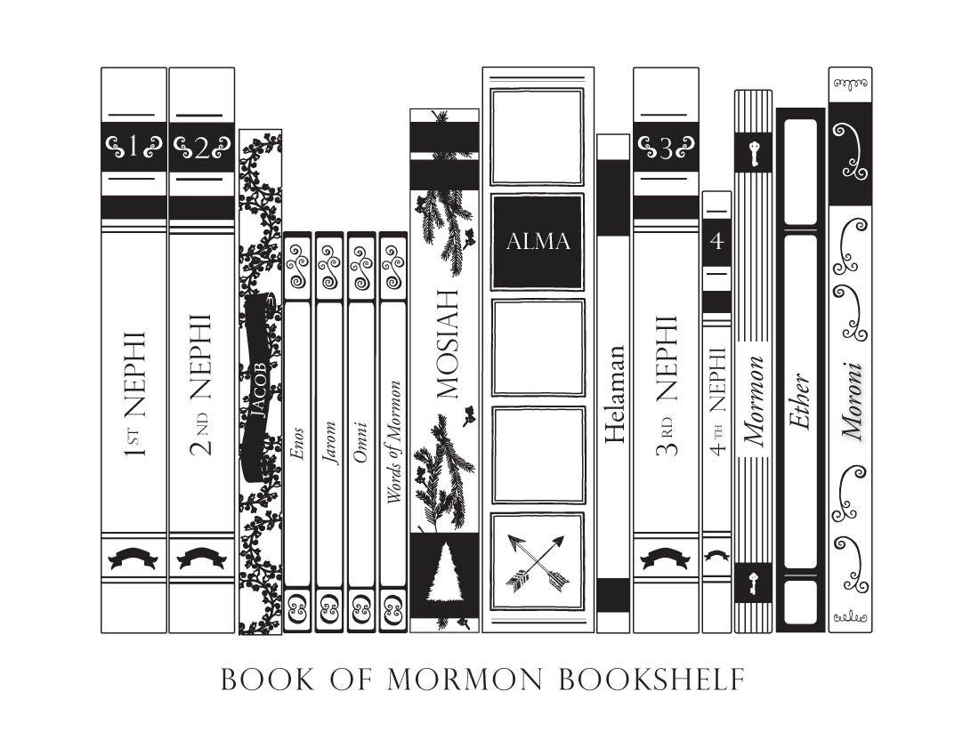 Book of Mormon bookshelf coloring