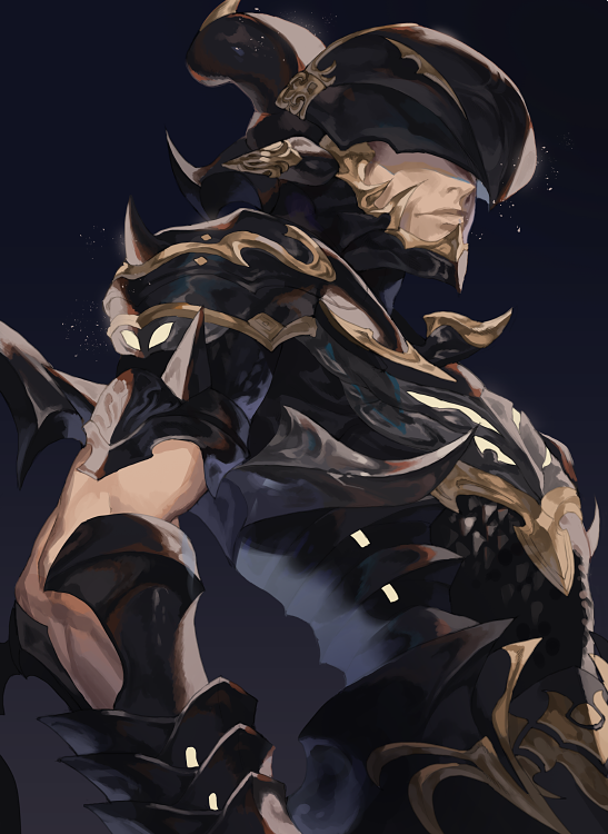 Safebooru - 1boy armor closed mouth covered eyes dragoon (final