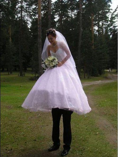 Another Edition of when Wedding Photos go Wrong Weird