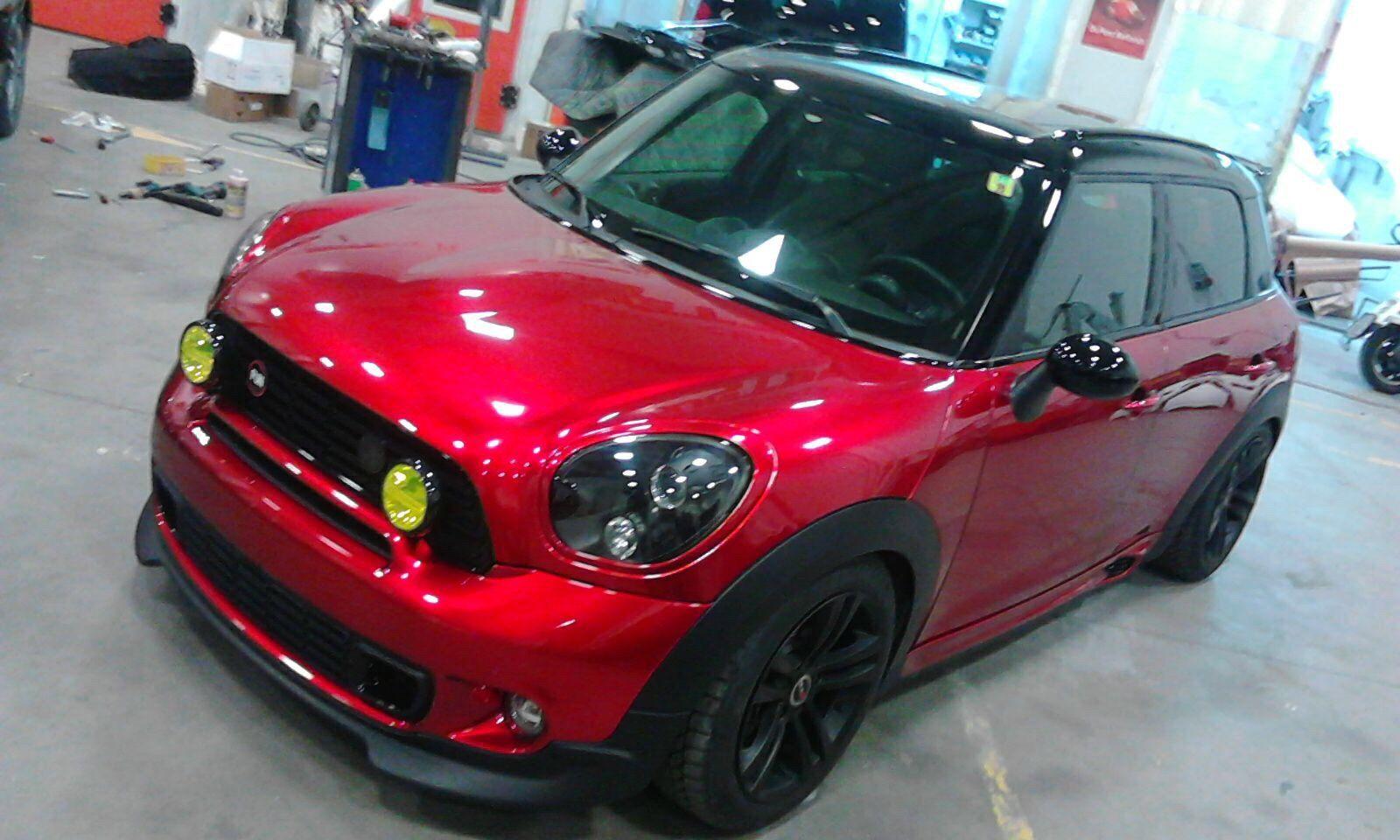 Mini countryman cooper s jcw all4 racing tuning rosso inchiostro be mini club como italy