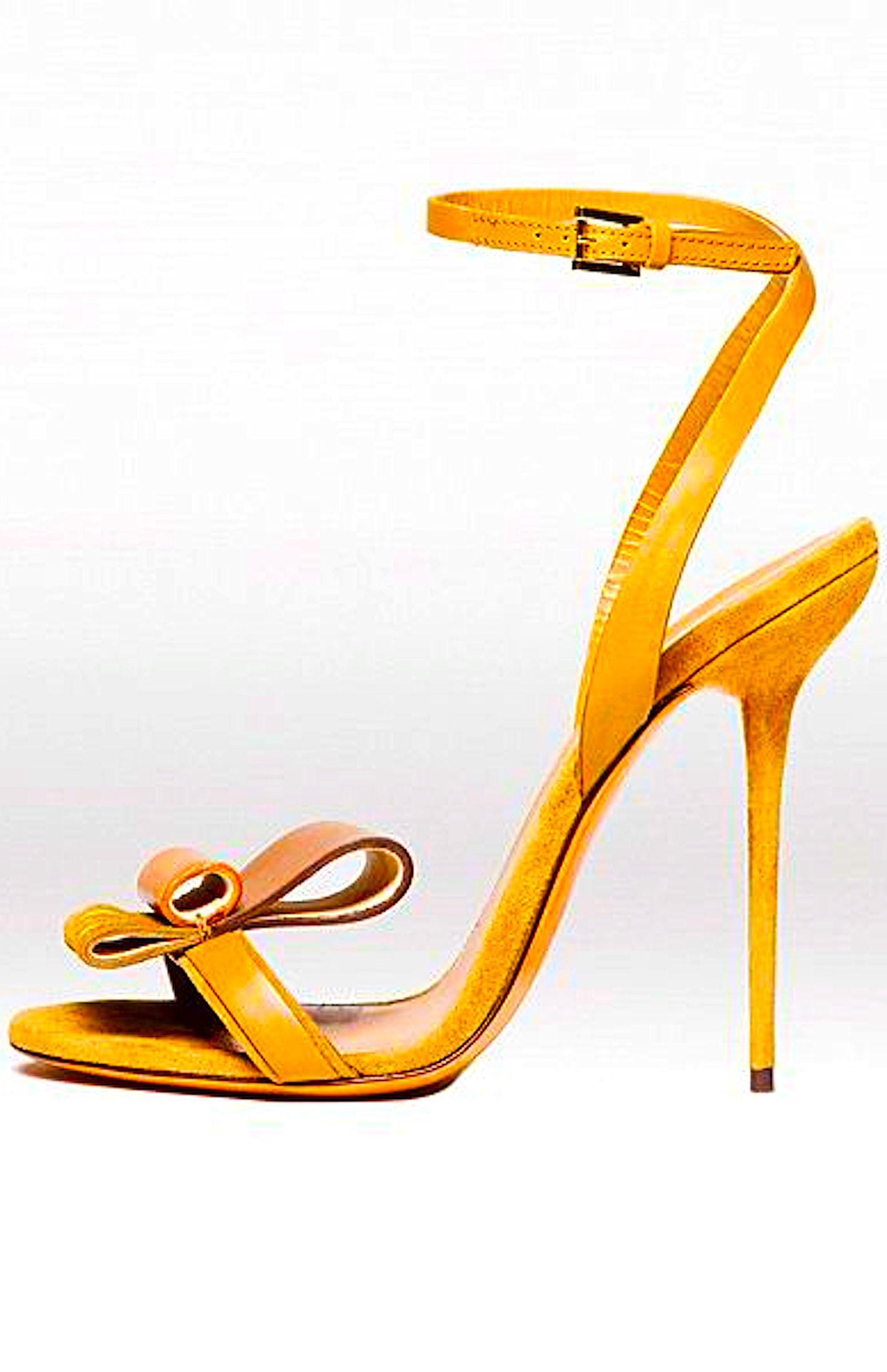 d7f06c82e859 ... feet to wear open shoes. Mustard Yellow High Heel Strap Sandal