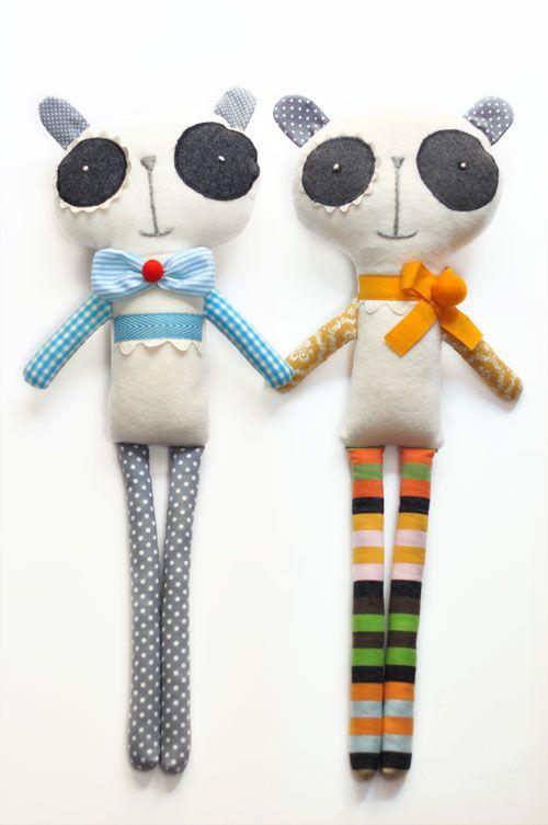 panda-soft-toys-by-PinkNounou. I absolutely LOVE Ana's work.