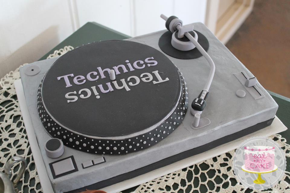 Technics Turntable Cake Turntable Cake Cake Dj Cake