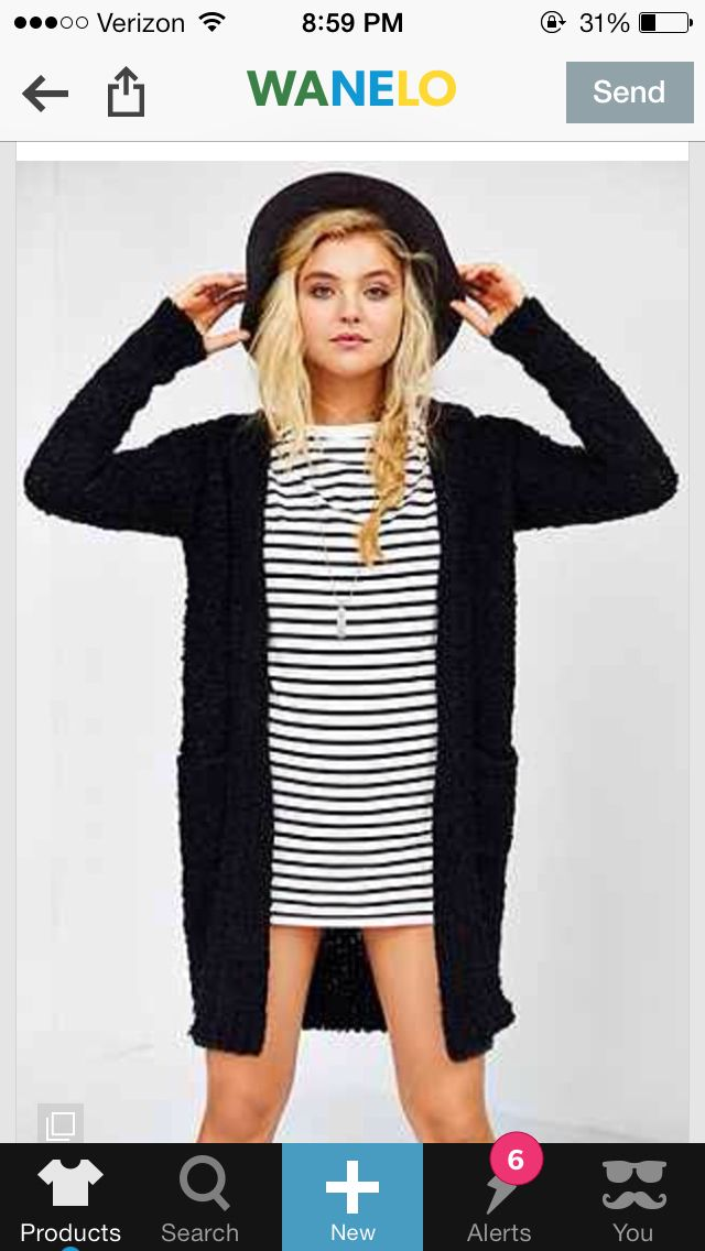 Striped dress with black accents