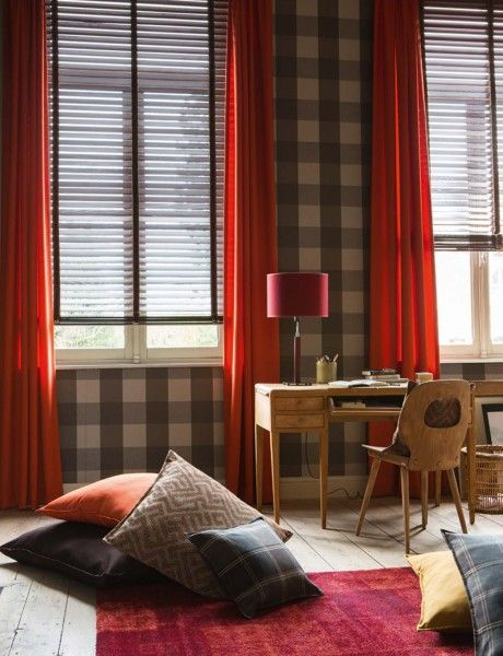 HEYTENS | Rideaux WOOLY TERRA | chalet cosy | Pinterest | Cosy