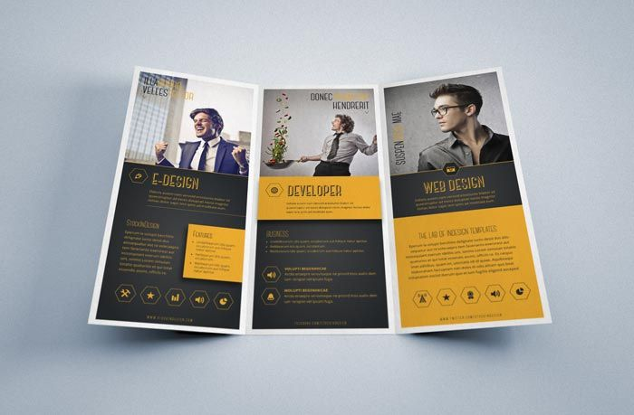 indesign trifold corporate brochure free brochure templates