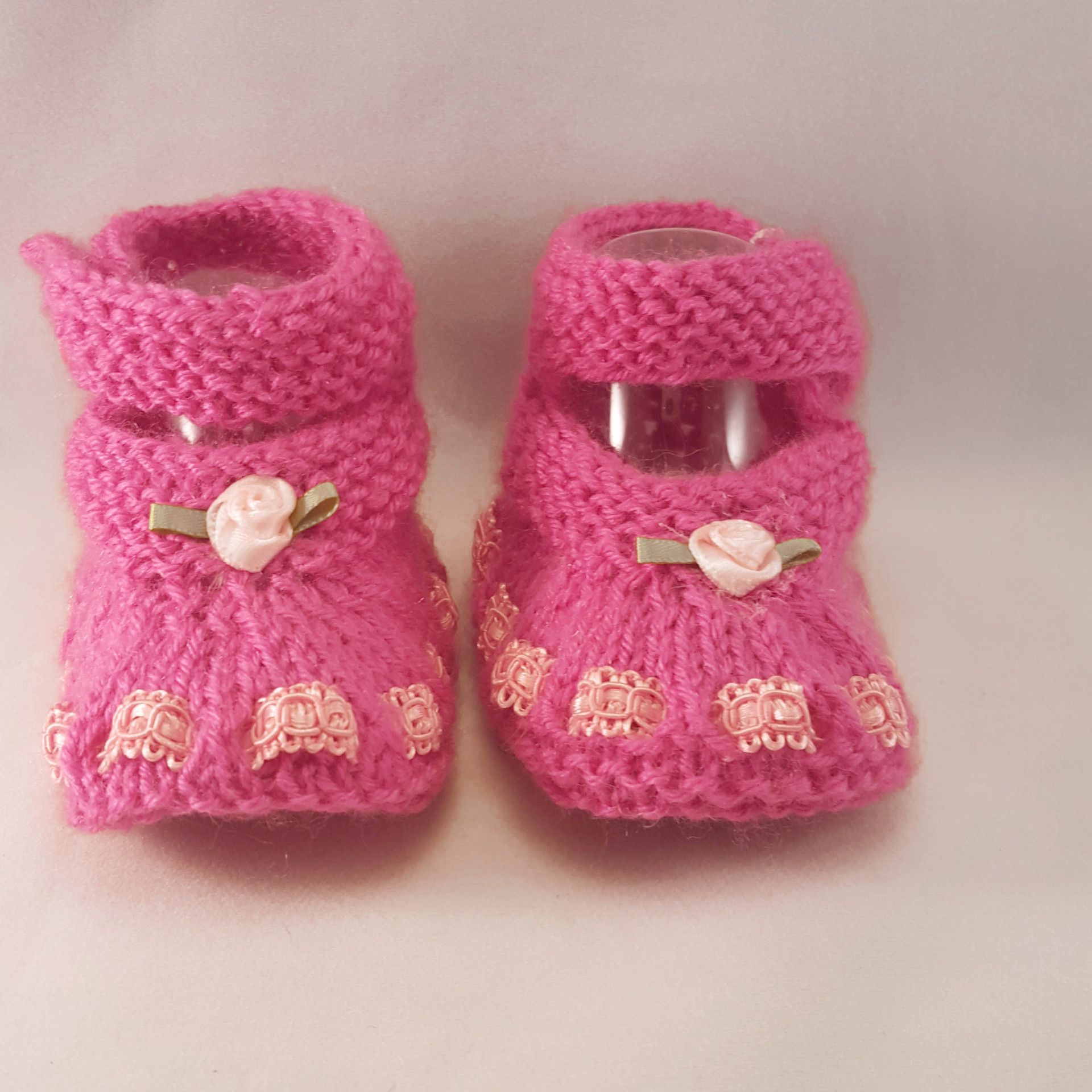 Our Knitted baby booties keep your baby's little feet warm