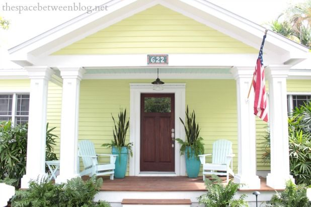 Key West House Tour Colorful And Fun The Space Between Beach House Colors Exterior House Colors Cottage Exterior