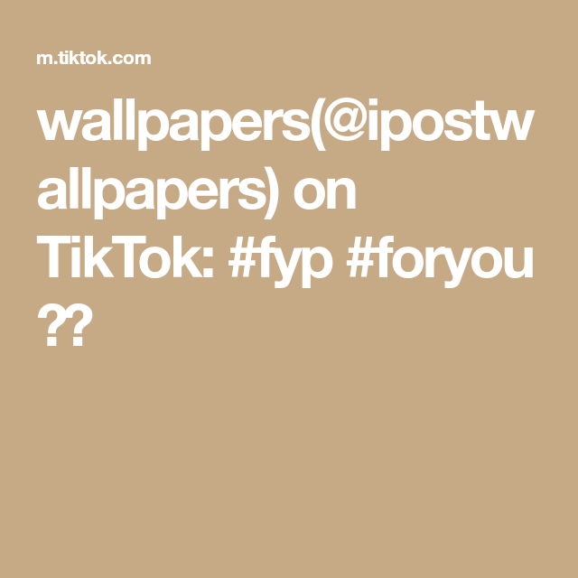 Wallpapers Ipostwallpapers On Tiktok Fyp Foryou Wallpaper Create Yourself Create Your Own