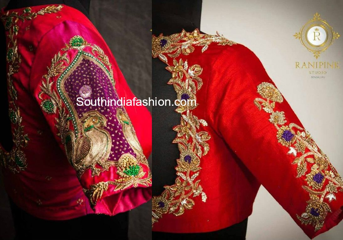 Stunning Bridal Blouses By Bangalore Based Boutique Ranipink Studio Fancy Blouse Designs South Indian Blouse Designs Blouse Hand Designs