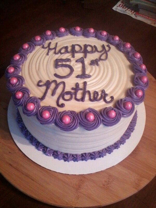 Womens 51st Birthday Cake