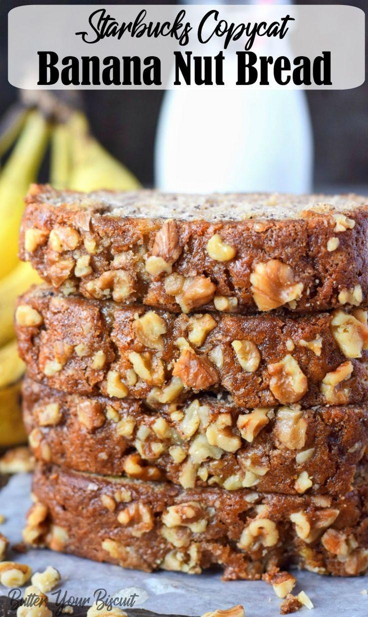 Starbucks Copycat Banana Nut Bread #bananabreadrecipe