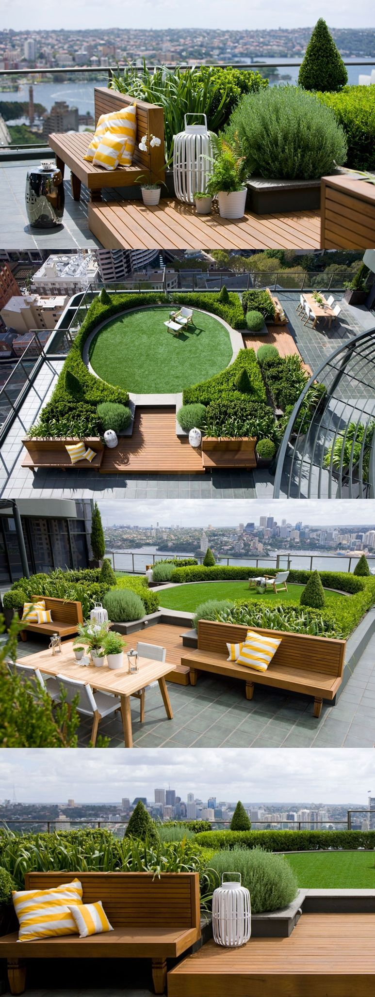 Wonderful Rooftop Garden Design For Home That Enchanting