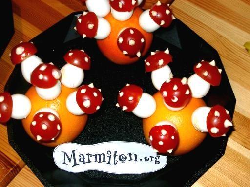 Les champignons rigolos d\u0027Halloween - Recette de cuisine Marmiton - ideas for halloween food