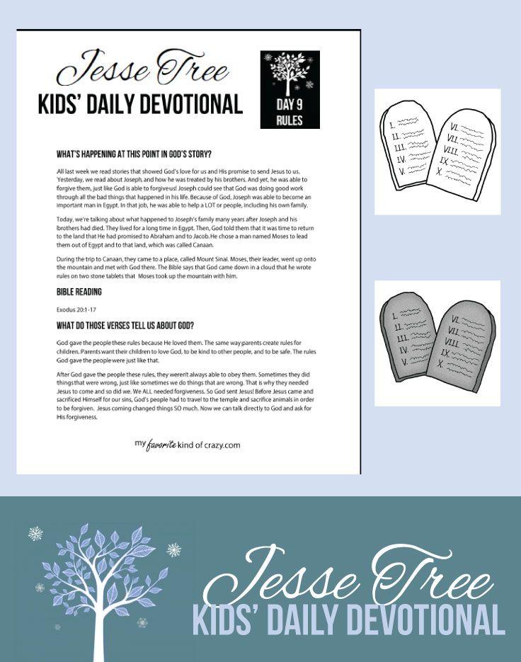 Crazy Kids Bible Devotional: Jesse Tree Day 9 | My Favorite Kind of Crazy