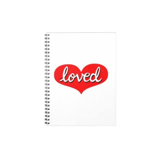 Notepad Red heart design Available in different designs