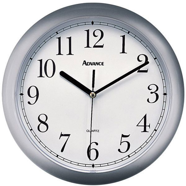 Advance By Geneva Silver 10 Inch Diam Quartz Wall Clock New Free Us Shhipping Wall Clock Clock Silver Wall Clock