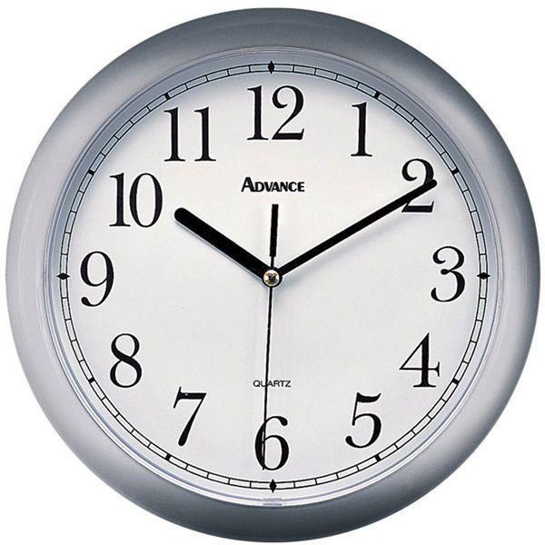 Advance By Geneva Silver 10 Inch Diam Quartz Wall Clock New Free Us Shhipping Wall Clock Clock Silver Wall Clock