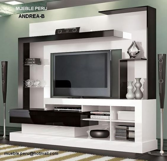 Muebles Modernos Para Tv Buscar Con Google Living Room Tv Wall Tv Unit Design Tv Cabinet Design