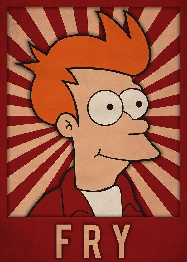 Futurama Characters Displate Posters