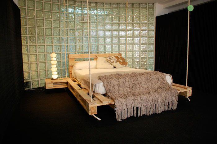 cama colgante - Camas Con Palets