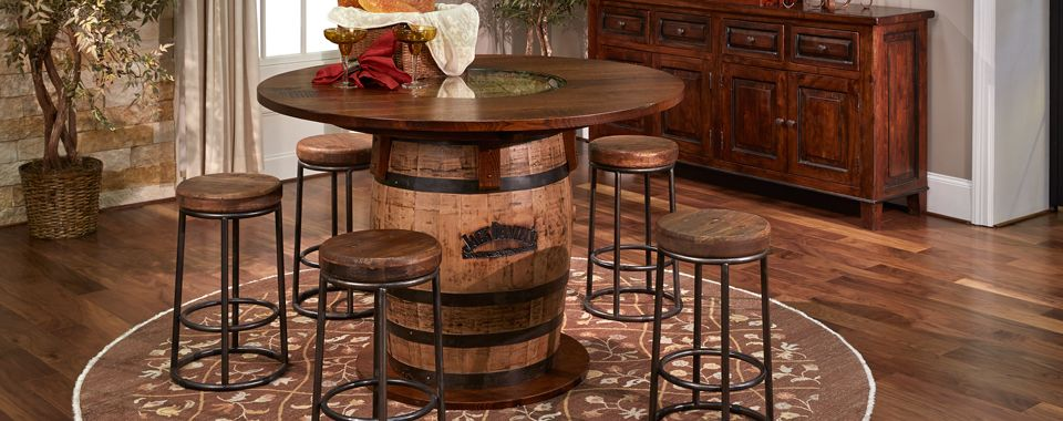 Gusa Whiskey Barrel Pub Table Whiskey Barrel Furniture Barrel