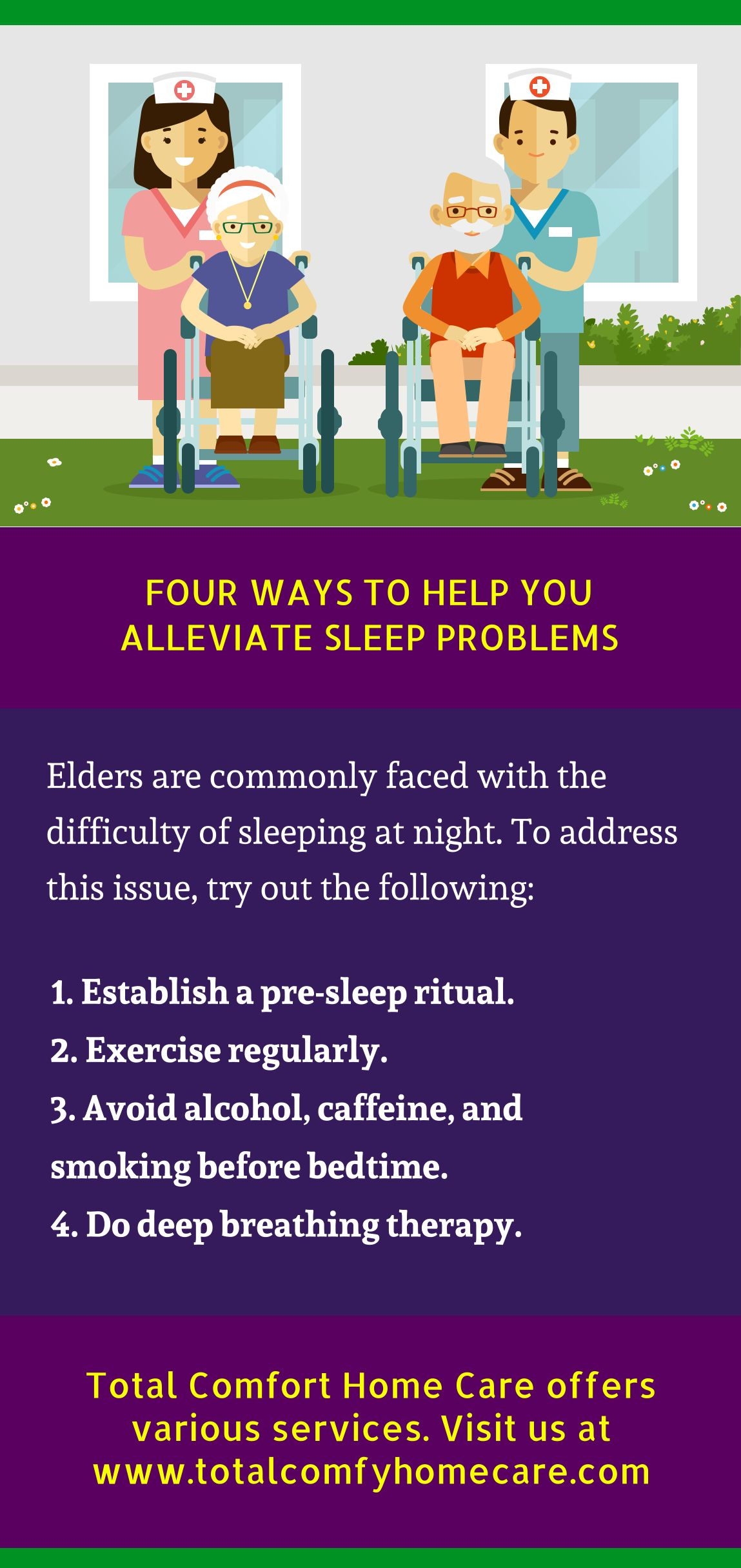 What are the ways to help alleviate sleep problems? Find