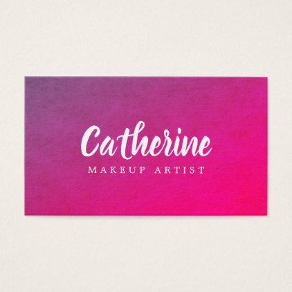 Modern elegant texture purple pink makeup artist business card makeup artist business cards reheart Image collections