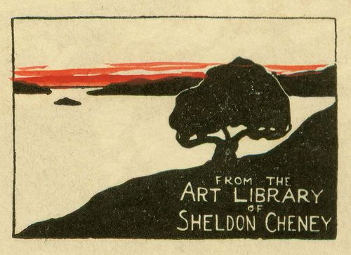 Bookplate of Sheldon Cheney - Pratt Institute Library   Ex-Libris Art. we love books. we love libraries. we love art. www.armadaistanbul.com