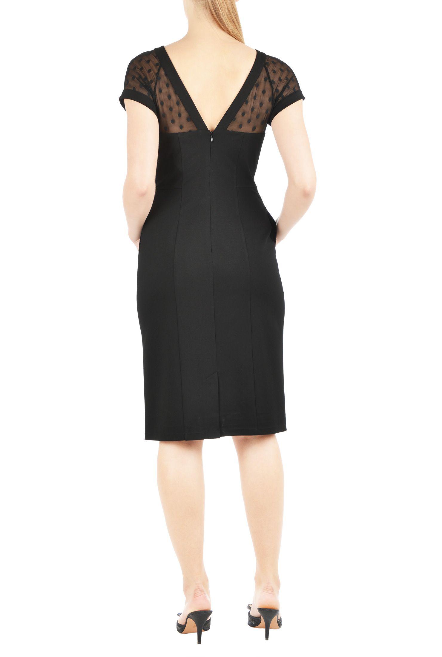 Illusion yoke ponte sheath dress pinterest custom clothes and