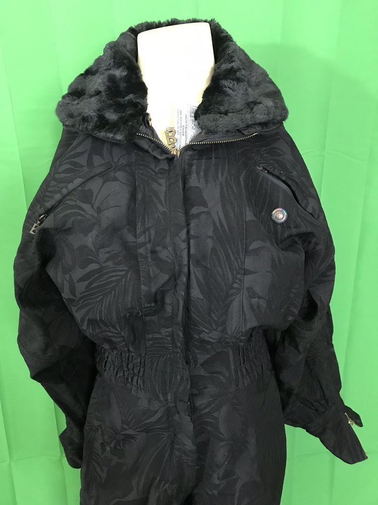 Bogner Sport Women's Ski Suit With Faux Fur Collar 12 R