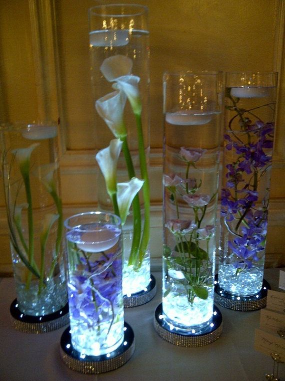 1 Pcs White Warm White Rgb Waterproof Led Lights For Centerpieces Vases Flower Centerpieces Waterproof Led Lights Floating Candle Centerpieces