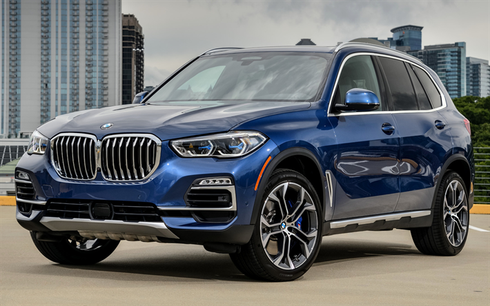 Download wallpapers BMW X5, street, 2019 cars, G05, SUVs