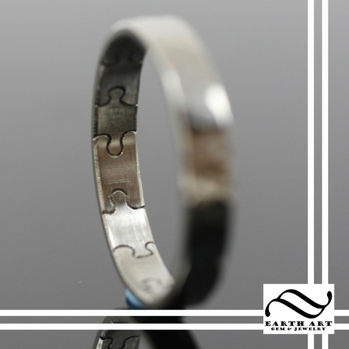 Puzzle Piece Wedding Band Love This Since There Were So Many Pieces To Our And Finally Found Each Other