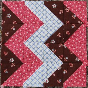 """Block from the book """"The Civil War Love Letter Quilt."""