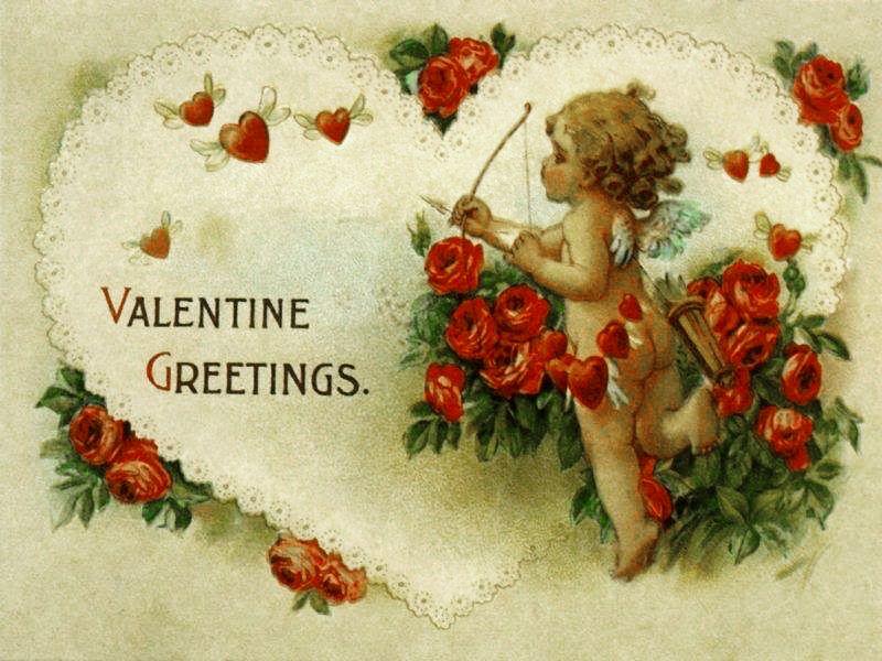Винтажные открытки день влюбленных, лучшему