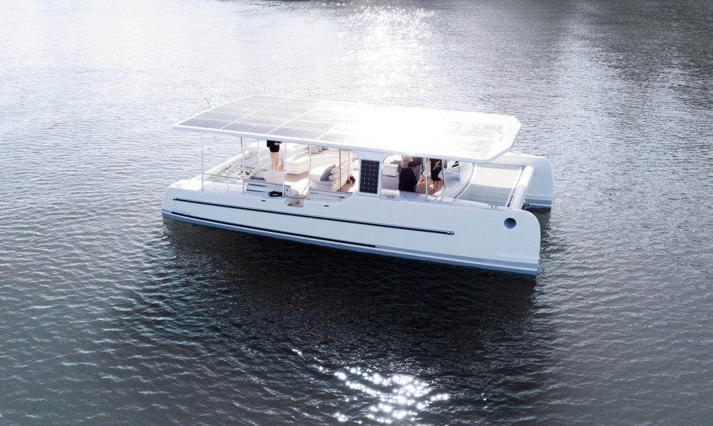 The Tesla Of Solar Electric Yachts Launches In New Zealand Solar Electric Solar Panel Cost Tesla