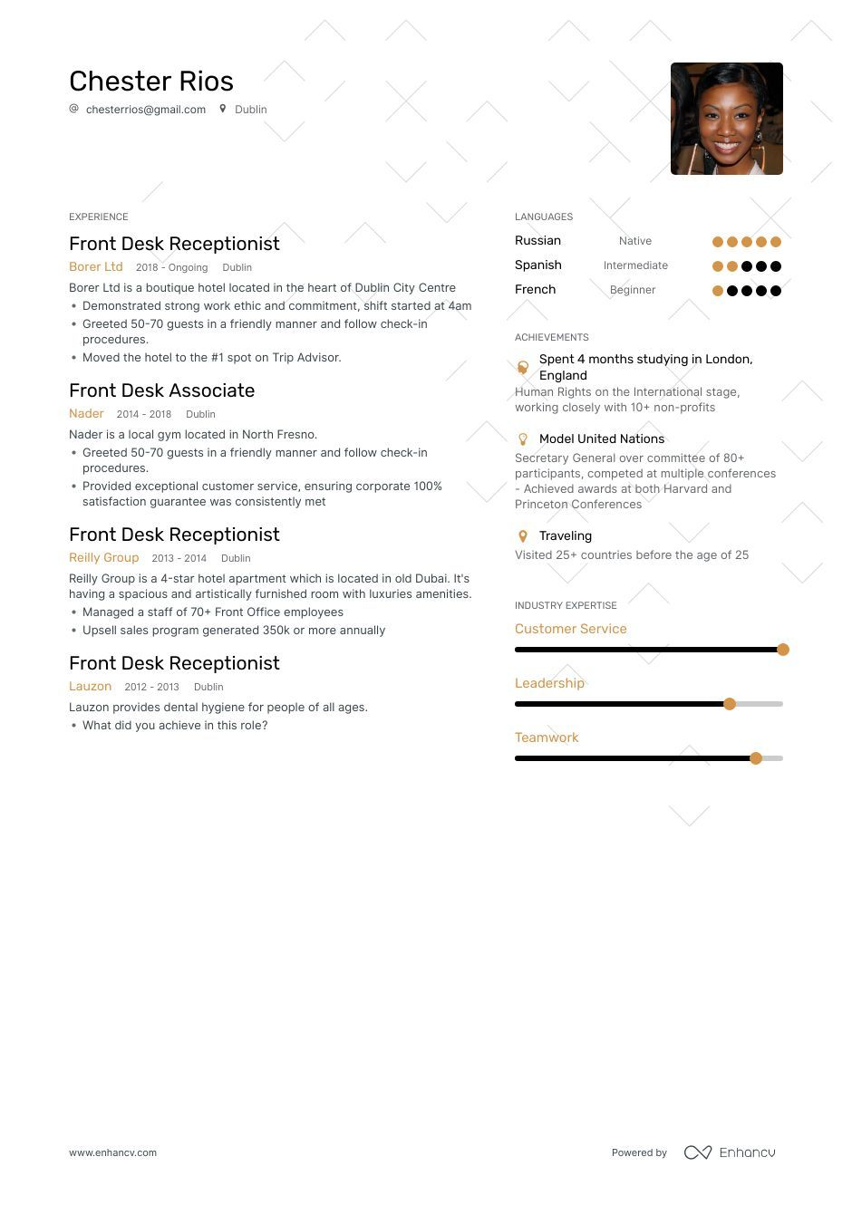 The Ultimate 2019 Guide For Front Desk Resume Examples 200
