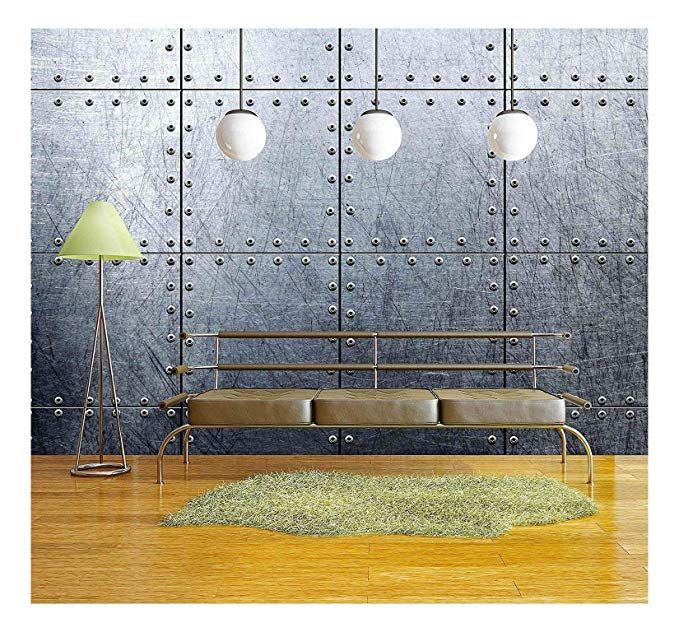 wall26 Metal Texture Background Removable